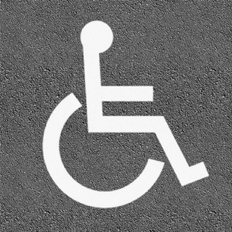 Thermoplastic Disabled Logo White